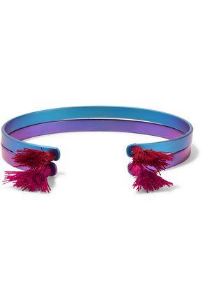 EYE M by ILEANA MAKRI Summer Titan set of two tasseled titanium cuffs