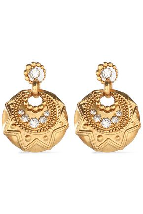 ELIZABETH COLE Gold-tone crystal earrings