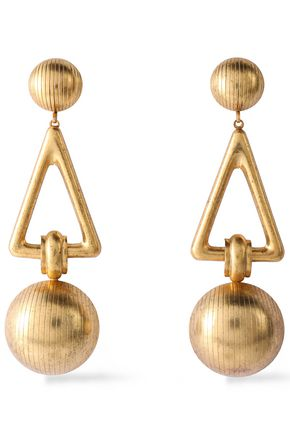 ELIZABETH COLE Gold-tone earrings