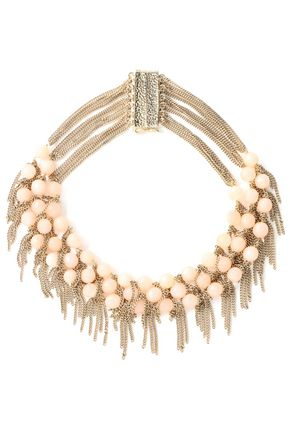 ROSANTICA Gold-tone beaded chain necklace