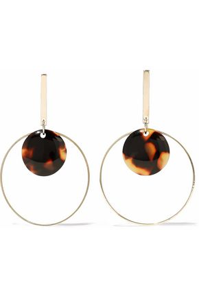 KENNETH JAY LANE Gold-tone and resin earrings