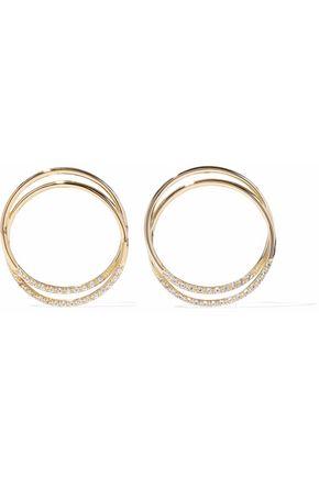 ELIZABETH AND JAMES Gold-tone crystal earrings
