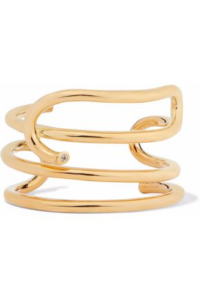 Gold Plated Topaz Cuff by Elizabeth And James