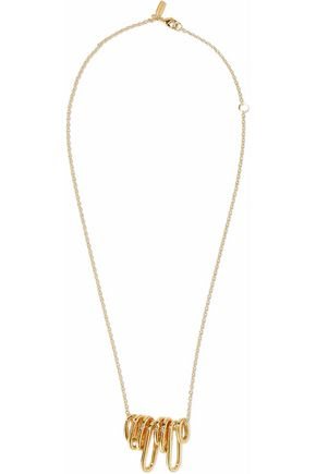 ELIZABETH AND JAMES Gold-tone necklace