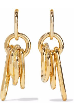 Elizabeth & James Elizabeth And James Woman Gold-tone Crystal Earrings Gold Size wa3loFfO