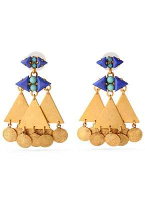 ELIZABETH COLE Gold-tone stone earrings