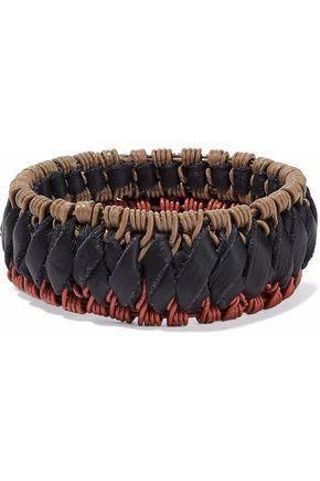 MARNI Braided faux leather bangle
