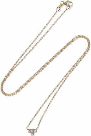 ILEANA MAKRI Pixel 18-karat gold diamond necklace