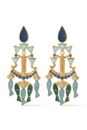 TORY BURCH Gold-tone stone earrings