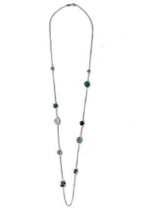 IPPOLITA Silver stone necklace