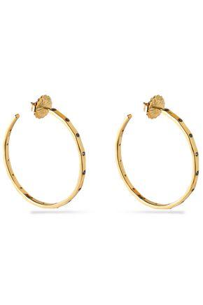 IPPOLITA 18-karat gold crystal hoop earrings