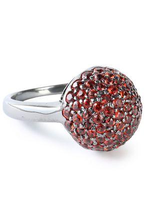 CAROLINA BUCCI Gunmetal-tone 18-karat gold crystal earrings