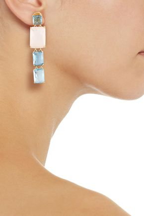 IPPOLITA 18-karat gold stone earrings