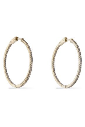 CZ by KENNETH JAY LANE Gold-tone crystal hoop earrings