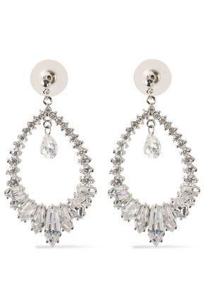 CZ by KENNETH JAY LANE Silver-tone crystal earrings