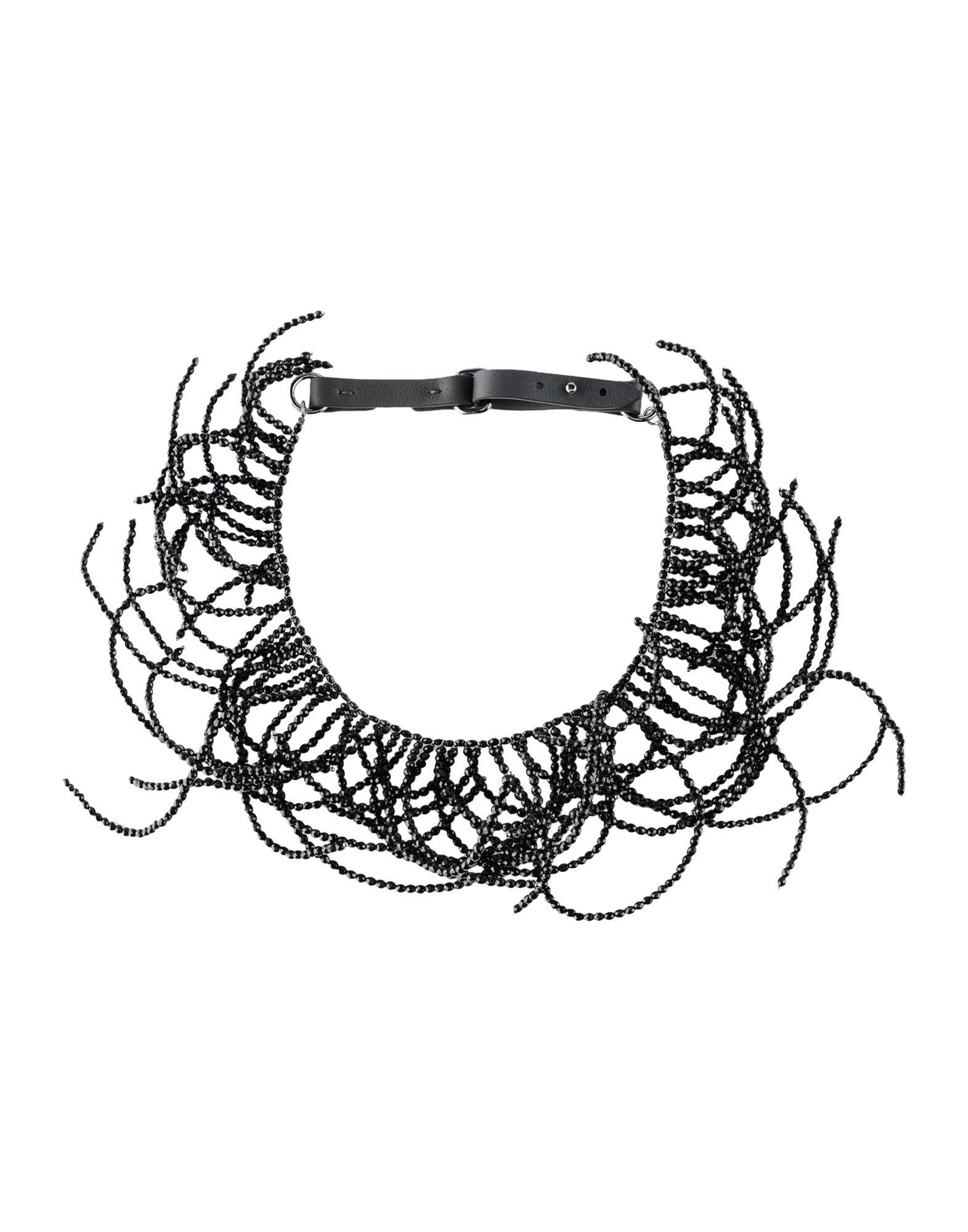 《送料無料》BRUNELLO CUCINELLI レディース ネックレス ブラック 革 / 金属