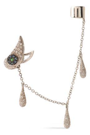 ILEANA MAKRI 10-karat white gold, diamond, and sapphire ear cuff