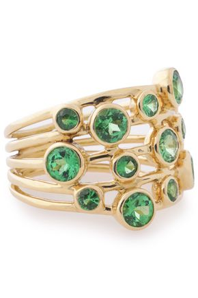 IPPOLITA 18-karat gold crystal ring