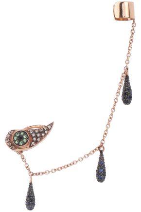 ILEANA MAKRI 18-karat rose gold multi-stone ear cuff