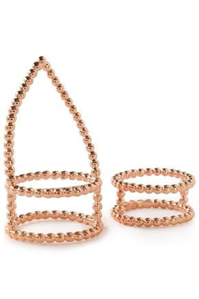 ARME DE L'AMOUR Set of two rose gold-tone rings