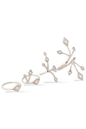ARME DE L'AMOUR Set of four silver rings
