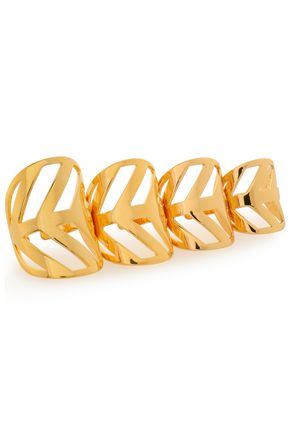 ARME DE L'AMOUR Set of four gold-tone rings