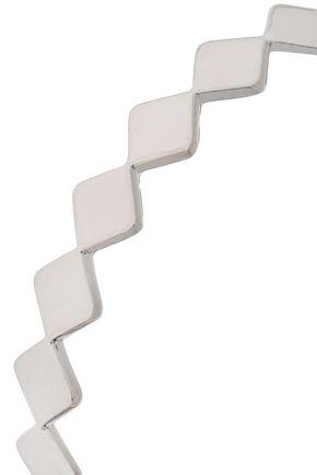 ARME DE L'AMOUR Silver-tone hoop earrings