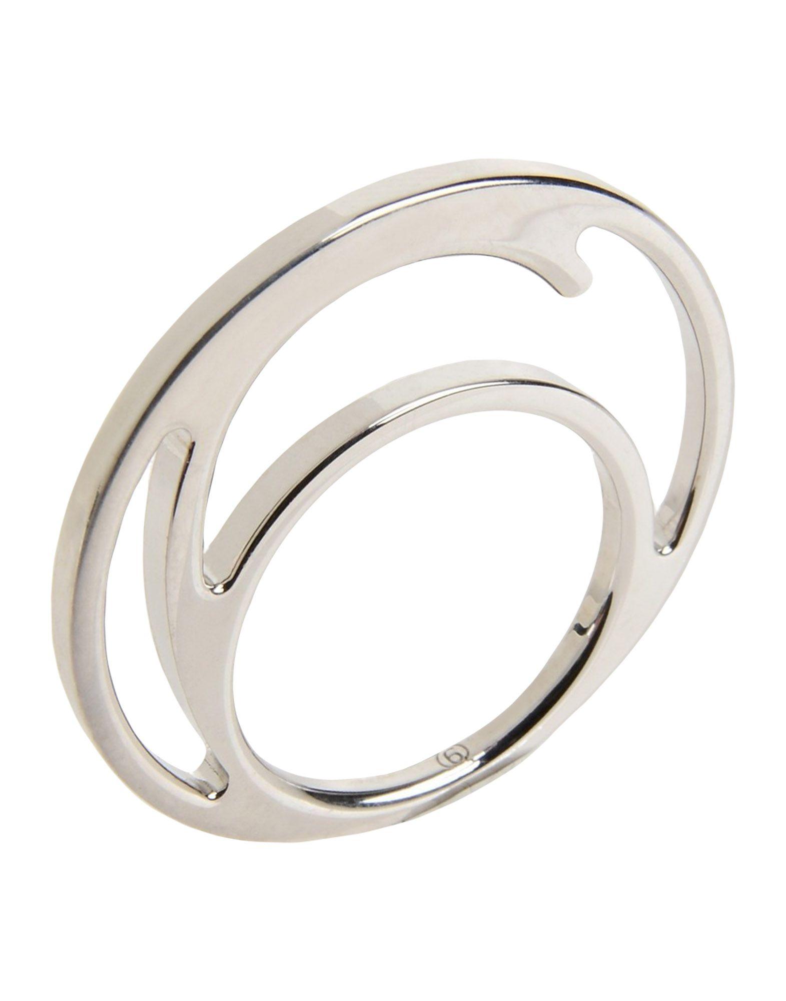 《セール開催中》MM6 MAISON MARGIELA レディース 指輪 シルバー M 真鍮/ブラス 100%