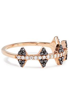 KHAI KHAI 18-karat rose gold crystal ring
