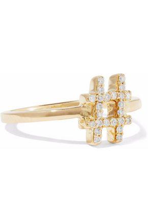 KHAI KHAI Silver-tone 18-karat gold crystal ring