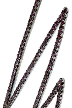 KHAI KHAI Oxidized 18-karat gold ruby earrings