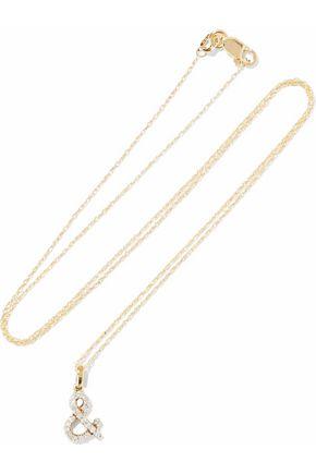 KHAI KHAI 18-karat gold crystal necklace