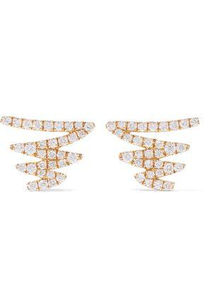 KHAI KHAI 18-karat gold crystal earrings