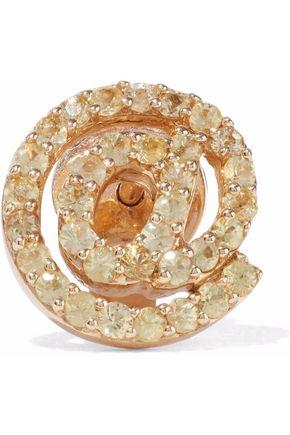 KHAI KHAI 18-karat gold crystal earring