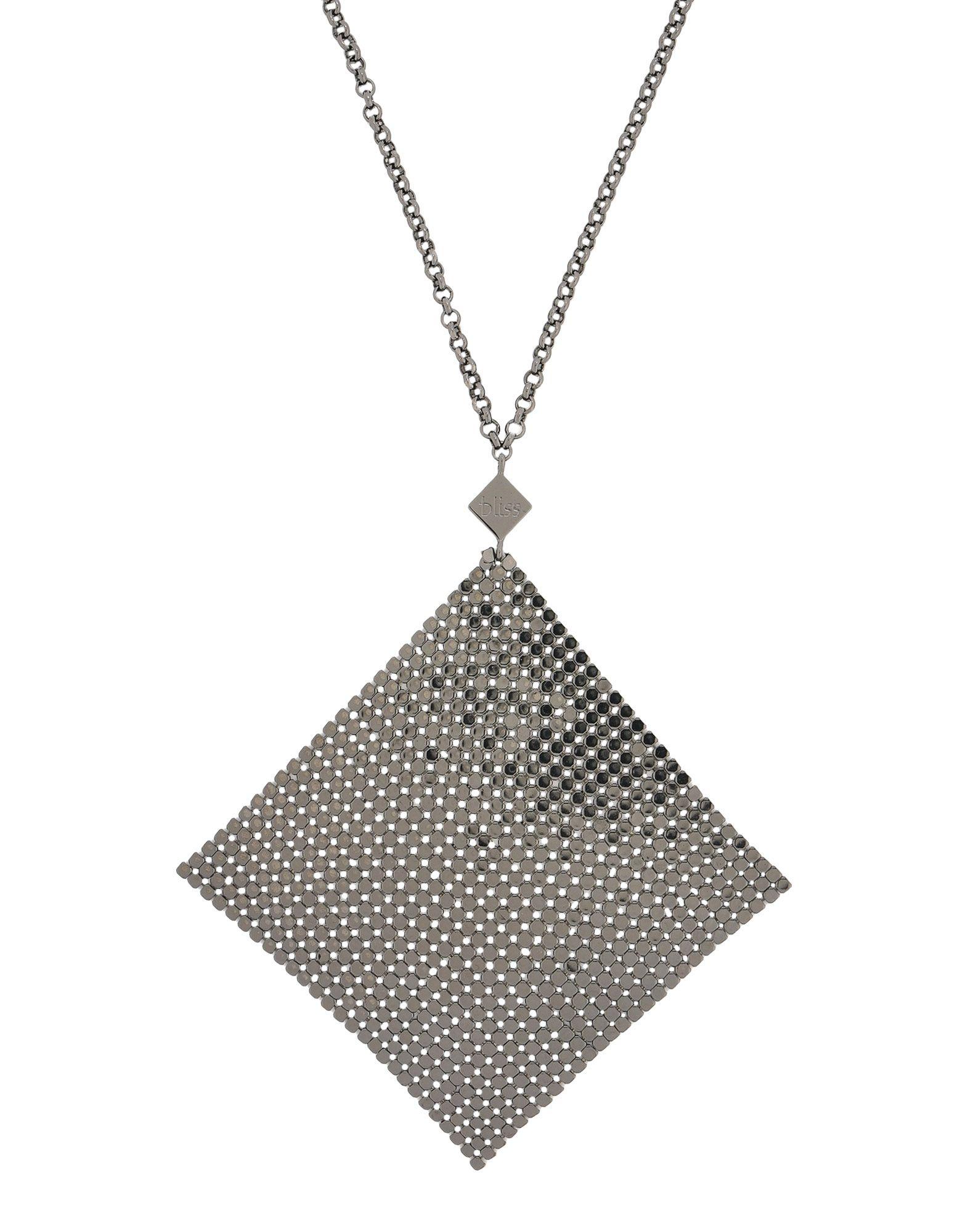 《送料無料》BLISS レディース ネックレス 鉛色 金属