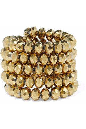 KENNETH JAY LANE Gold-tone beaded bracelet