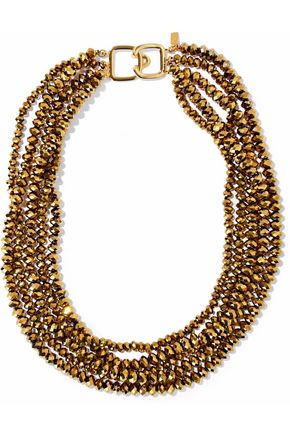 KENNETH JAY LANE Gold-tone beaded necklace