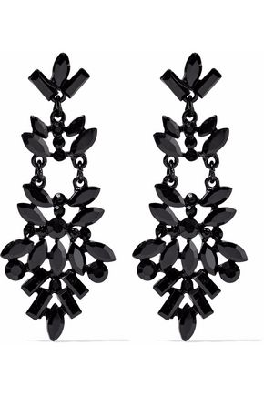 KENNETH JAY LANE Crystal enamel earrings