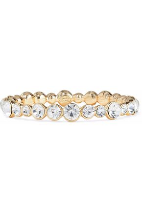 KENNETH JAY LANE Gold-tone crystal bracelet
