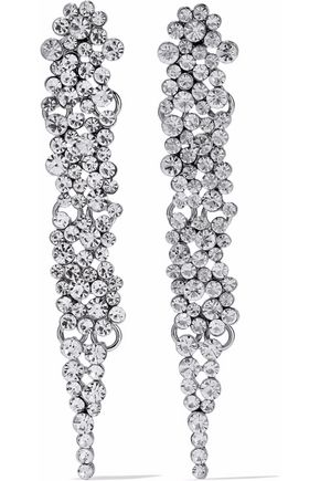 KENNETH JAY LANE Silver-tone crystal earrings