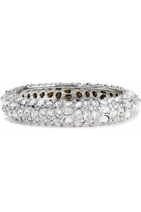 KENNETH JAY LANE Silver-tone crystal bangle