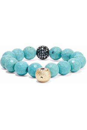 KENNETH JAY LANE Gold-tone, crystal and bead bracelet