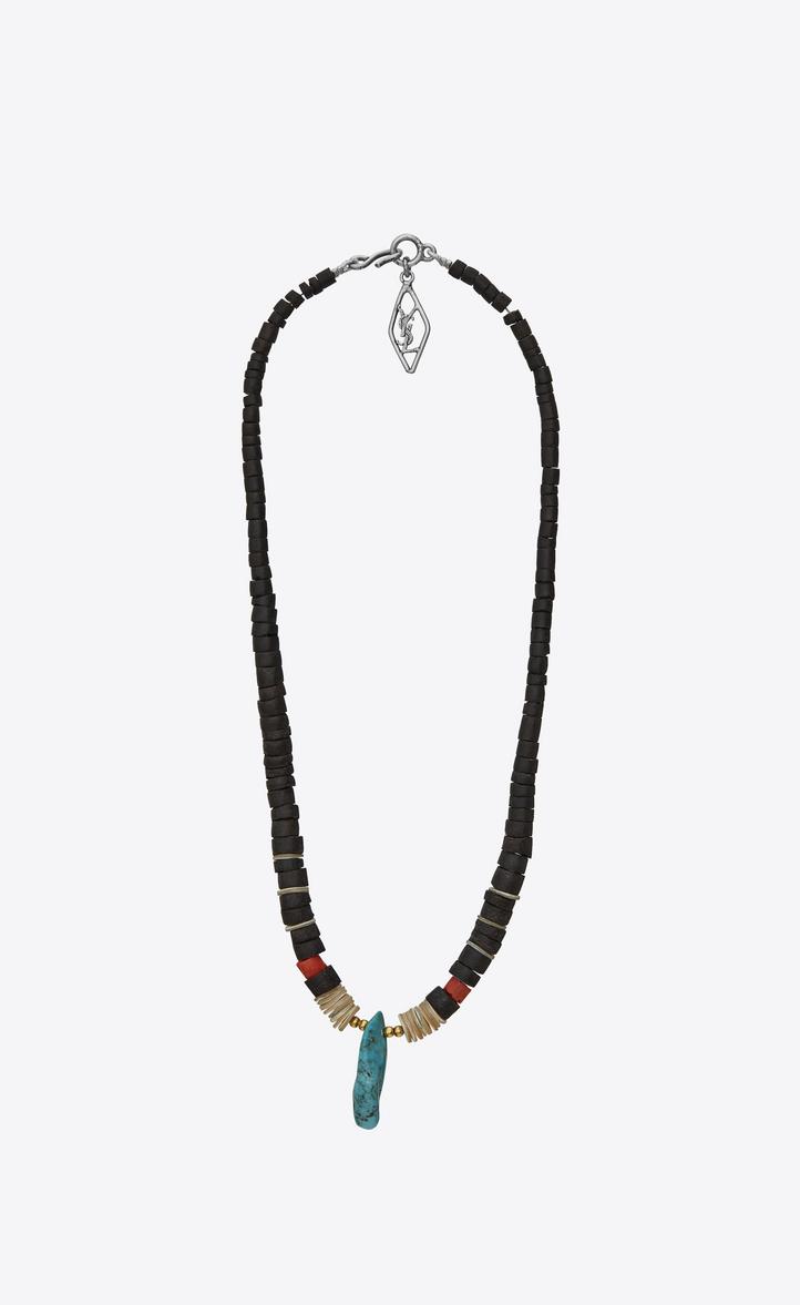 Saint Laurent Tribal Mother of Pearl Gorgonian Coral Bracelet lgFamF0