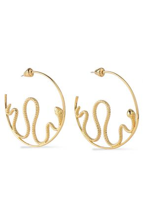 NOIR JEWELRY Gold-tone hoop earrings