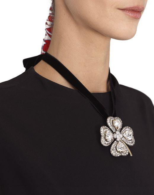 lanvin cosmic clover brooch/necklace   women