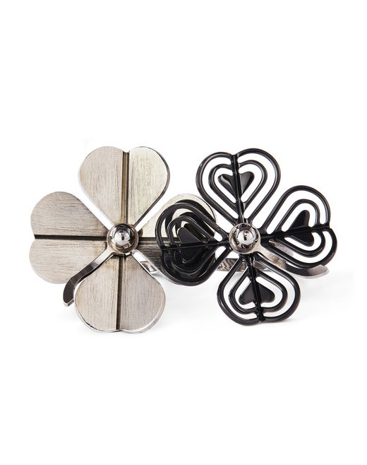 COSMIC CLOVER DOUBLE RING - Lanvin