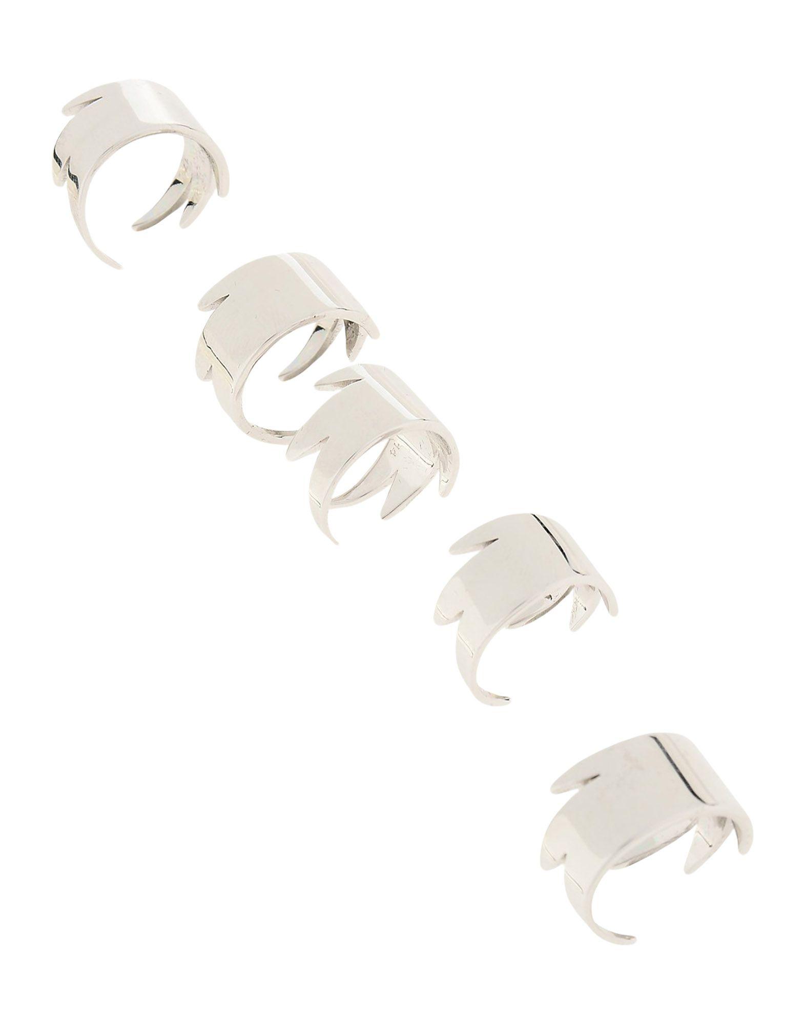 《セール開催中》DSQUARED2 レディース 指輪 シルバー one size 真鍮/ブラス 100%