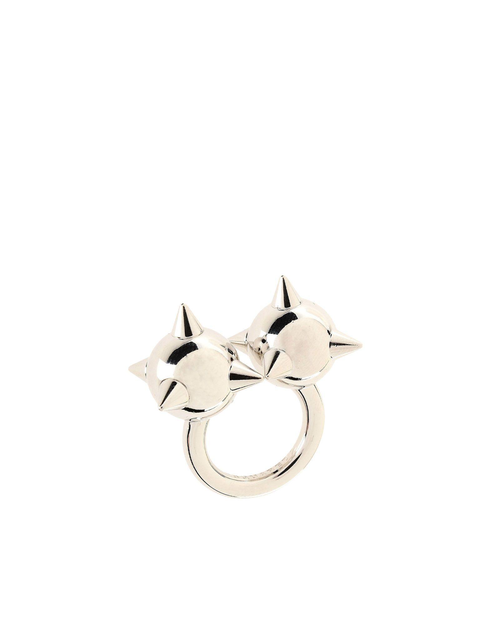 《セール開催中》DSQUARED2 レディース 指輪 シルバー S 真鍮/ブラス 100%