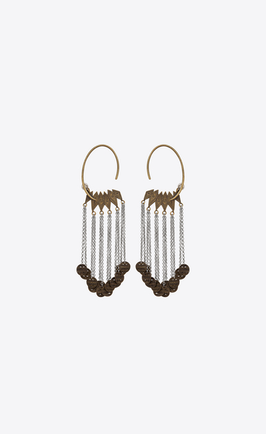 SAINT LAURENT Earrings Woman MARRAKECH medal earrings in tin and brass a_V4