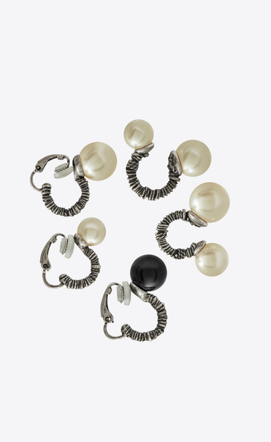 SAINT LAURENT Earrings Woman set of three marrakech ear jewels in silver-toned brass a_V4